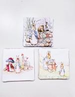 Rabbit Coasters 4