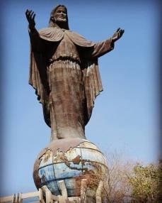 ET Jesus statue hill