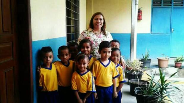 Isabel and kids school 1